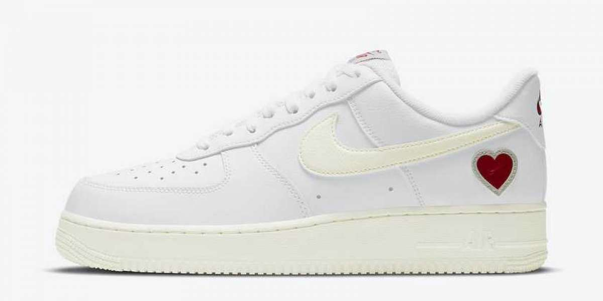 "DD7117-100 Nike Air Force 1 ""Valentine's Day"" White/Sail-University Red Will Be Released In February 2021"